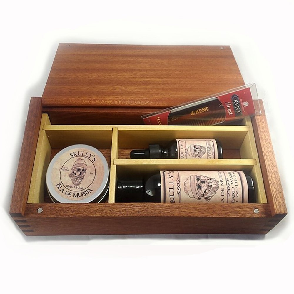 Skully's ''The Outlaw Box'' Wooden Beard Care Gift Box (Isla De Muerta)