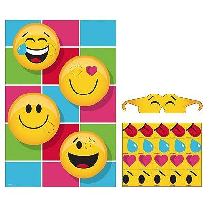 Party Game Emoji Emoticon Childs Birthday Tableware Decorations Supplies