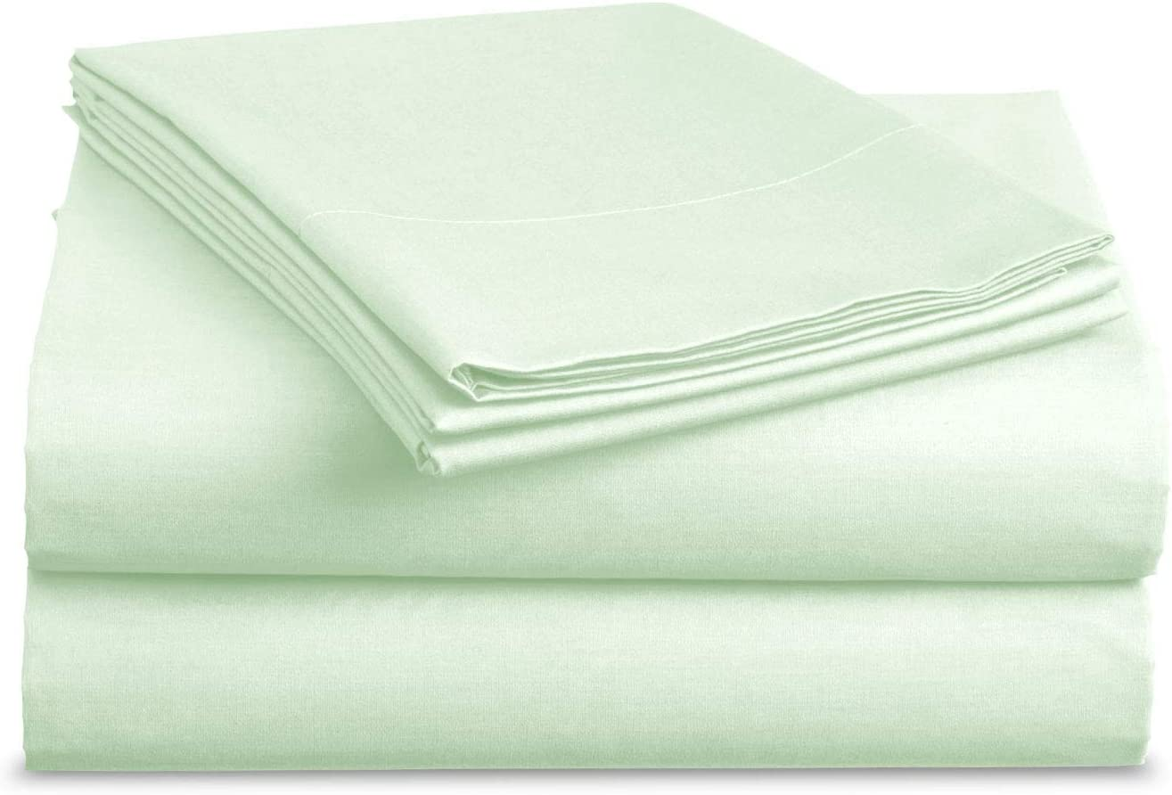 BASIC CHOICE Bed Sheet Set - Brushed Microfiber 2000 Bedding - Wrinkle, Fade, Stain Resistant - Hypoallergenic - 3 Piece (Twin, Mint)