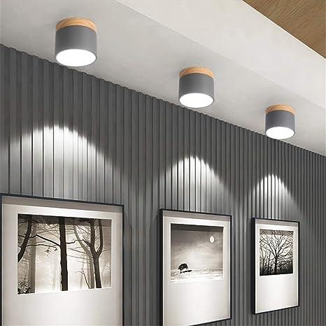 Luces de techo modernas Lámpara de techo de madera para sala ...