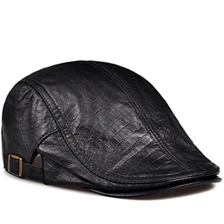 6f6235a5da4 nsxbzz Autumn Men Leather Ladies Hat Beret thin sheepskin hat leisure  peaked cap