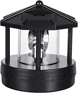 Tenrry Solar LED Rotating Lighthouse Light Garden Yard Lawn Lamp Lighting Outdoor Home Decor