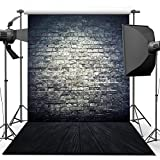 ANVOT Photography Backdrop 5x7FT/1.5x2.2M Antique Brick Wall Wood Floor Backdrop Background For Photography Studio Video Shooting