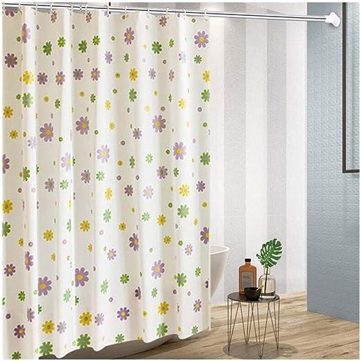 AF Cortina de Ducha de Espesor Impermeable y Moho baño Ducha partición Cortina Cortina jardín pequeño Floral (Size : 80 * 180cm): Amazon.es: Hogar