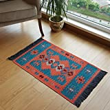 Modern Bohemian Style Small Area Rug, 2 X 3 feet, Washable, Natural Dye...