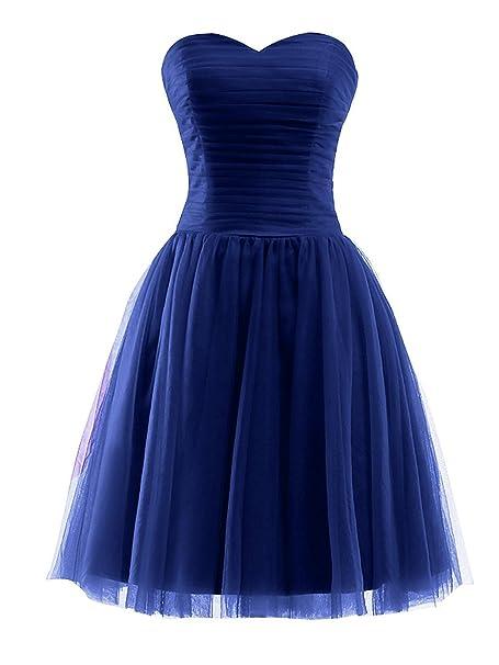MicBridal Vestido - Trapecio - para Mujer Azul 36: Amazon.es: Ropa y accesorios