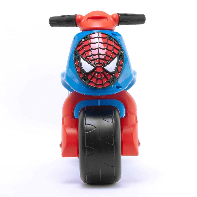Injusa 19060 Neox Ultimate Spider-Man - Moto correpasillos para bebés de 18 meses con decoración permanente IML y asa de transporte