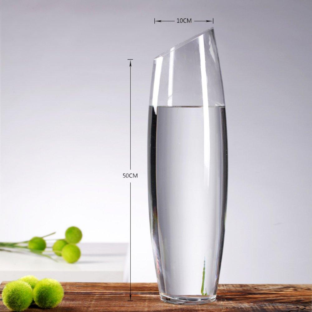 余分な大規模なガラス シリンダーつぼ 家またはで結婚式のための装飾的なセンター ピース-A B07CQJZBSP A A