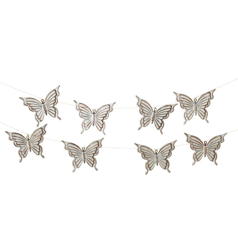 Midwest-CBK 72'' Galvanized Metal Butterflies Garland