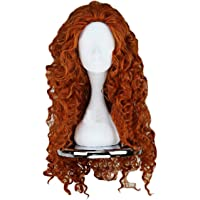 Angelaicos Women's Fluffy Wavy Party Halloween Costume Cosplay Wig Long Brown
