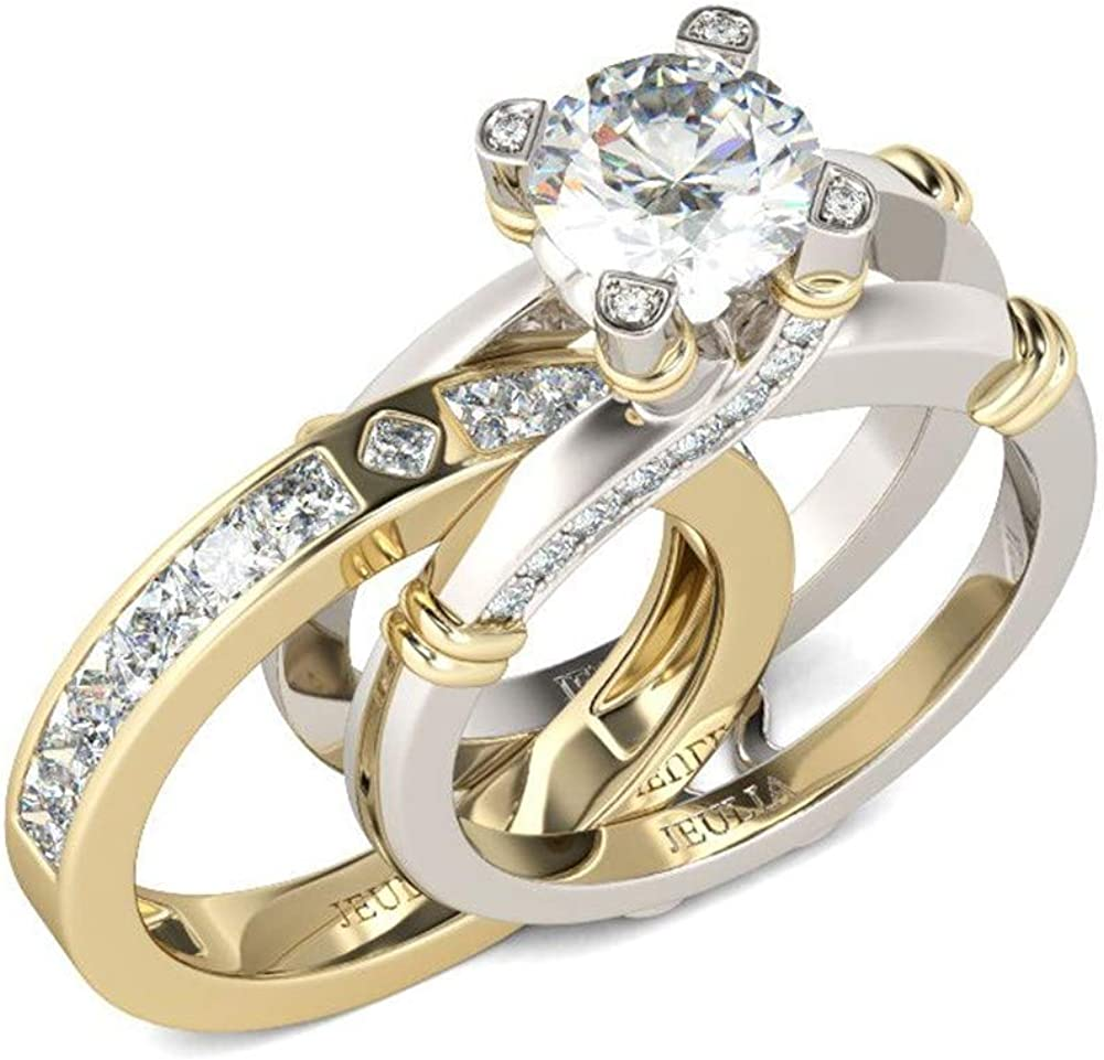 JEULIA Diamond Band Rings for Very popular! Interchan Recommendation Sterling cz Women Silver