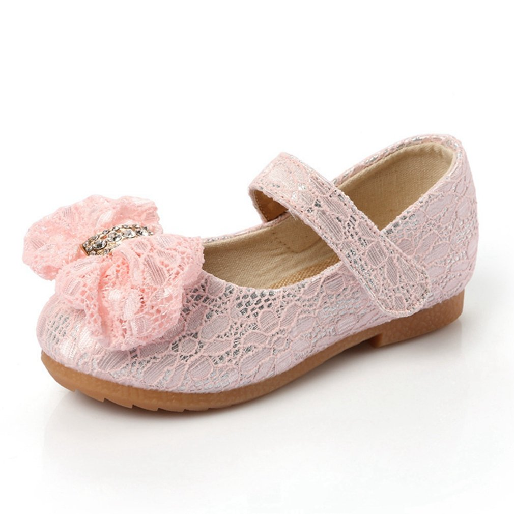 CYBLING Girl's Dress Shoes Lace Bowknot Princess Mary Jane Ballet Ballerina Flats (Toddler/Little Kid)