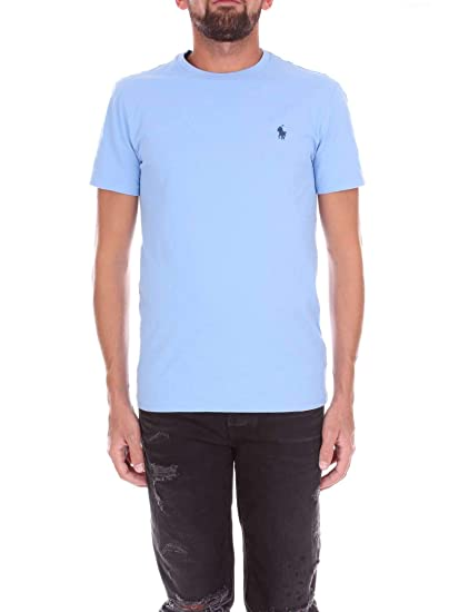 online retailer d3f90 5e353 Ralph Lauren T-Shirt Uomo Polo Blue: Amazon.co.uk: Clothing