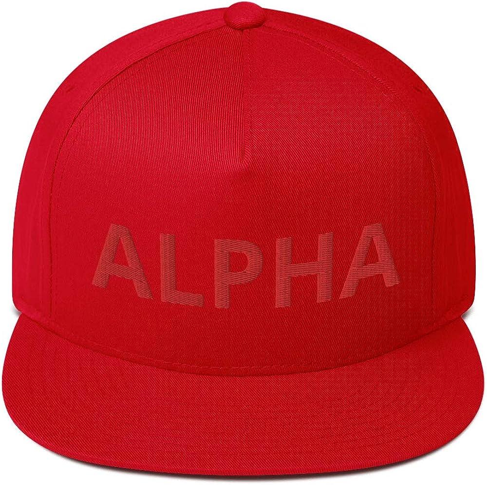 Alpha Flat Bill Cap Red and Black
