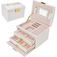 Gifort Caja Joyero, Caja para Joyas con Espejo