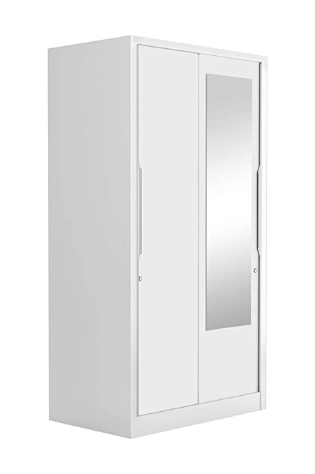 0c32fe0b7e9 Godrej Interio Slide N Store Pro 2-Door Wardrobe with Mirror (Matte Finish