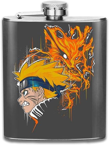 Demon Fox - Petaca con estampado de Naruto, bandera de ...