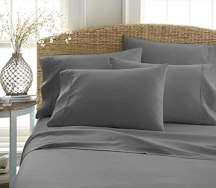 Hampton Collection Highest Quality Ultra Soft 6 Piece Hotel Quality Bed  Sheets Hypoallergenic And Wrinkle Resistant