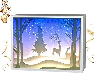 partymaster Navidad alce Papercut cajas de luz linterna de papel ...