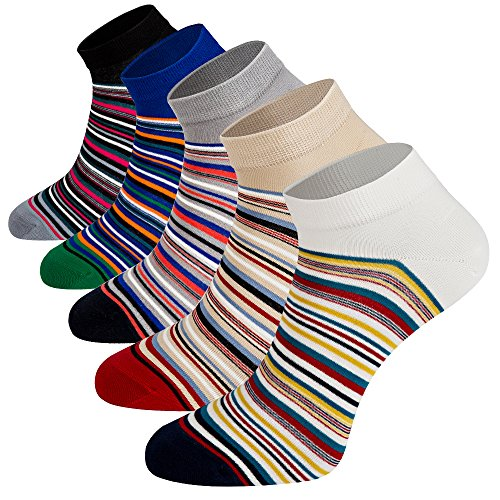 Mens Casual Low Cut Ankle Socks Fashion Athletic Running Socks Moisture Wicking Cotton Quarter Socks 5Pack