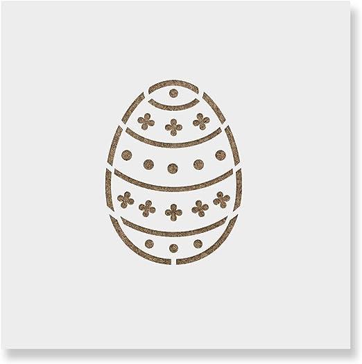 Amazon Com Easter Egg Cookie Stencil Template Reusable