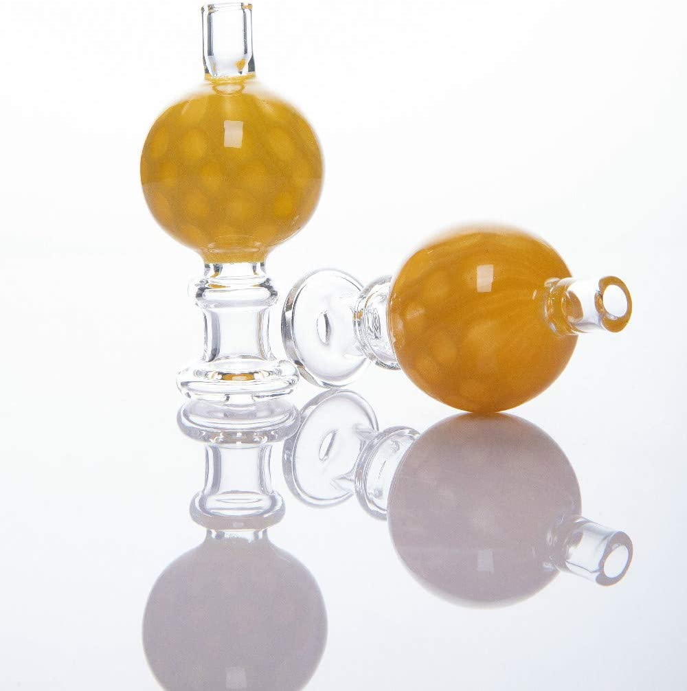 Handmade Yellow Glass Cap Bubble Cover Cap 1 Piece