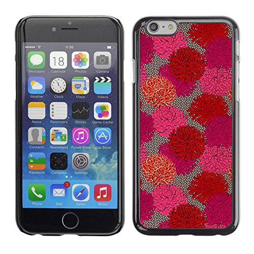 Caoutchouc Hard Case Shell Housse de protection Accessoire BY RAYDREAMMM - Apple iPhone 6 - Floral Flowers Spring Art Purple