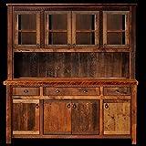 Barnwood Buffet and Hutch Real Wood Western Lodge Rustic Cabin