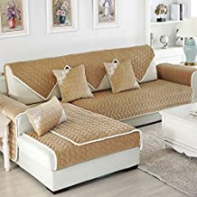 """OstepDecor Multi-size Soft Rectangular Winter Quilted Furniture Protector and Slipcover for Pets, Kids, Dogs - Large & Standard Sofa, Loveseat, Recliner and Chair 
