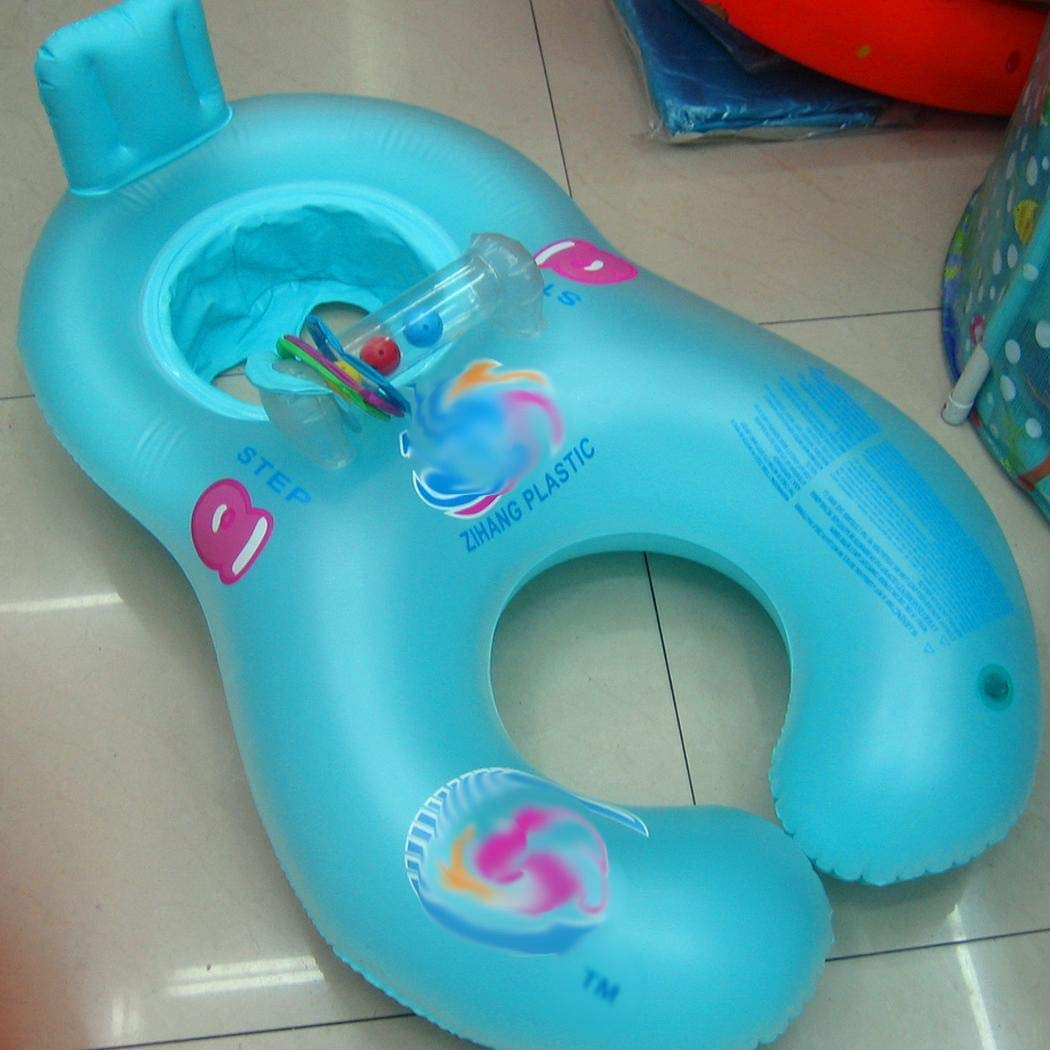 Kindes Inflatable Mother Baby Swimming Ring Pool Float Toy Water Floats for Baby and Parents by Kindes (Image #2)