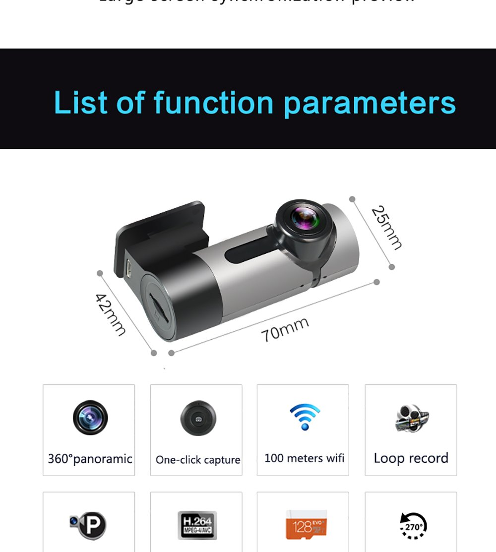 ZYWX-Dash-Cam-Driving-Recorder-360-Panorama-Full-HD-1080P-Parking-Monitoring-Loop-Recording-Night-Vision-One-Click-Capture