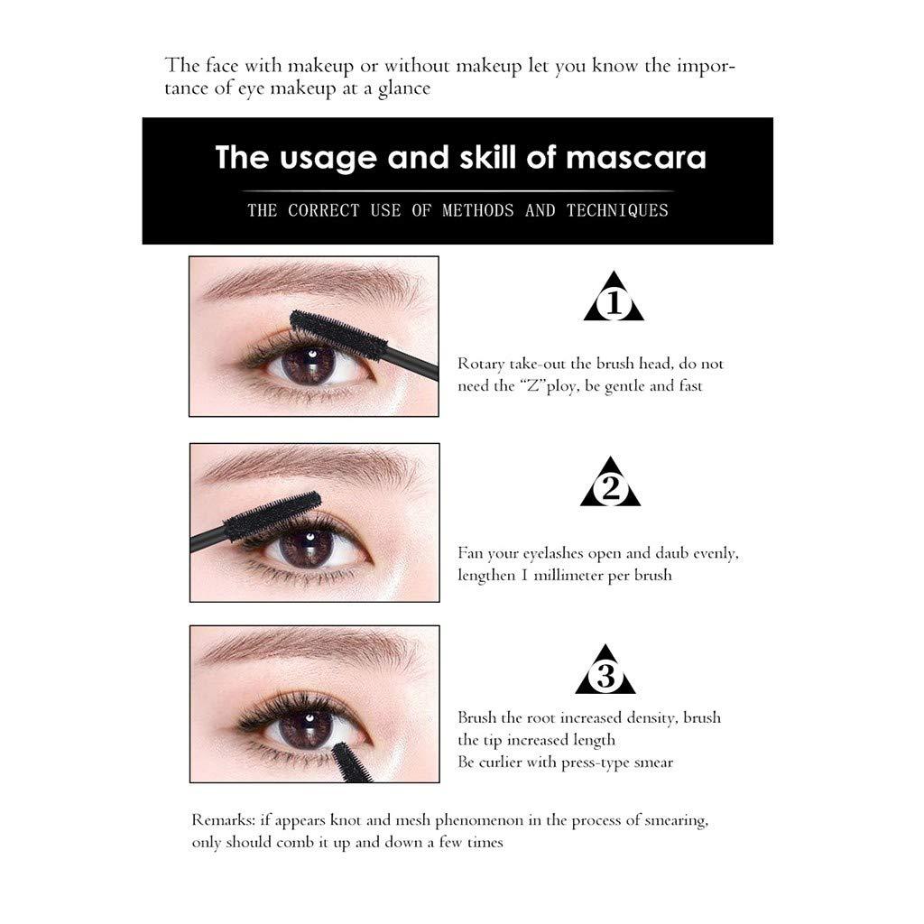 095b30d1501 Amazon.com : Ktyssp Waterproof Makeup Mascara Long Extension Roll Eyelash  Color Eye Mascara Black : Beauty