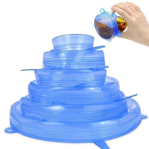 Tapas de silicona Tapas Tapa expandible de silicona Reutilizable ...