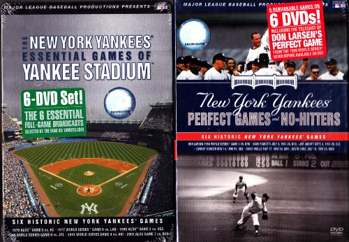 The New York Yankees: Essential Games of Yankee Stadium and Essential Games of Yankee Stadium- Perfect Games and No Hitters : Yankee 2 Pack : 12 Discs -