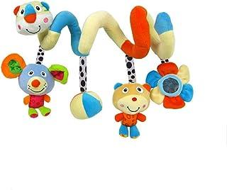 TOYMYTOY Giocattoli a spirale, giocattoli per passeggini, giocattolo per sedili auto con appendiabiti per culla con suoneria