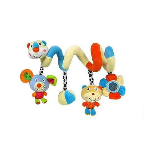 YeahiBaby Bebé suave colgante hongos espiral de juguete para cochecito Cuna Soft Hanging Rattle Toys(