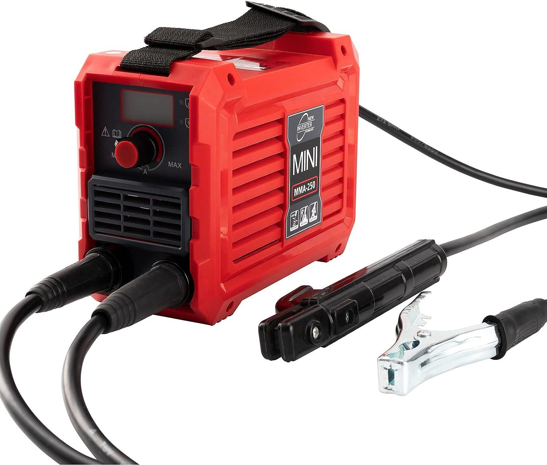 220 V Mini Soldador de arco de Soldador de Arranque en caliente 200 Amperios MMA, Pantalla digital LCD, máquina de Soldadura eléctrica con Soporte de electrodo Pinza trabajo adaptador de alimentación