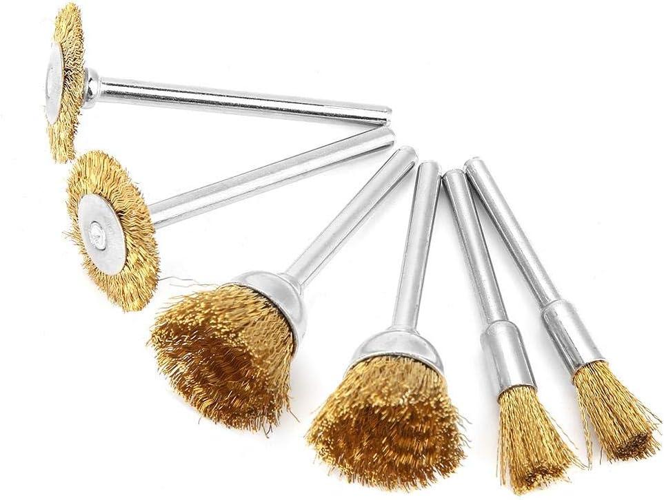 18 piezas de pulido pulido rueda cabeza cepillo de alambre kit de acero conjunto para taladro el/éctrico herramientas rotativas de potencia pulido accesorios de limpieza