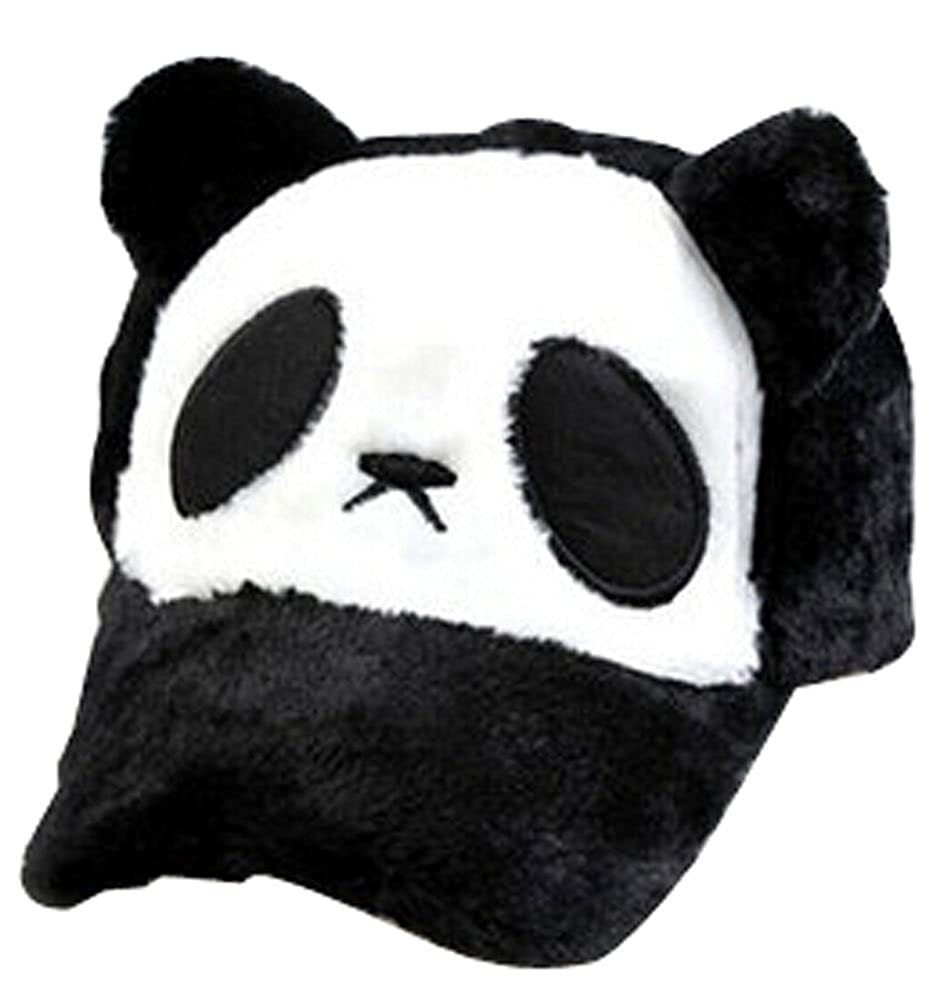 Baseball Hat Children Thicken Hat Cap Panda Style Fashion Cap Black Black Temptation