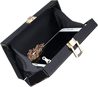 0e3042c6c7 Women Acrylic Silver and Gold Box Clutch Purse Striped Evening Crossbody  Bags. Women Acrylic Silver and Gold Box Clutch Purse Striped Evening ...
