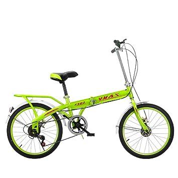 XQ F380 Verde Bicicleta Plegable Ultralight Portátil 16/20 Pulgadas Velocidad Única Bicicleta De Niños