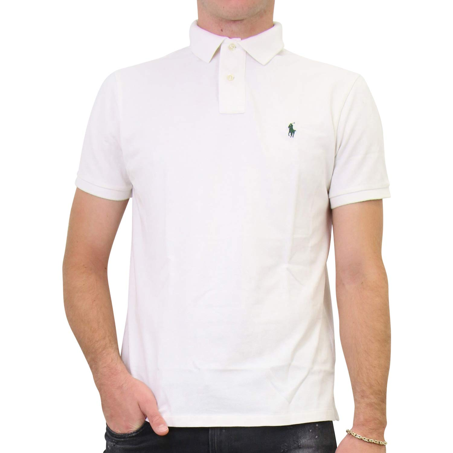 Ralph Lauren - Polo para Hombre Color Blanco. XL: Amazon.es: Ropa ...