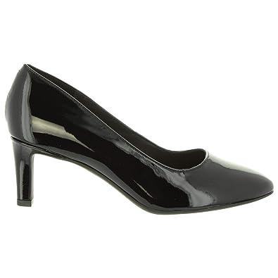 93f345336e5 Clarks Women Heel Shoes 26132244 Calla Black PAT LEA  Amazon.co.uk ...
