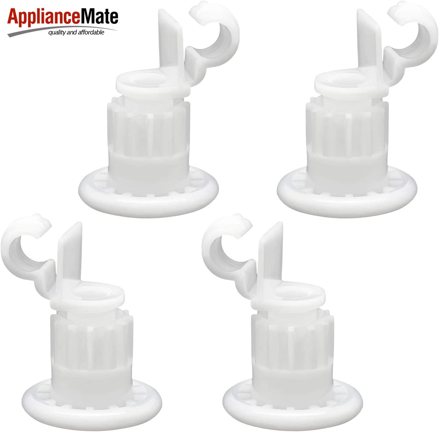 Appliancemate WD12X10327 (4pack) Rack Roller and stud assembly Kit Compatible With General Electric Dishwasher