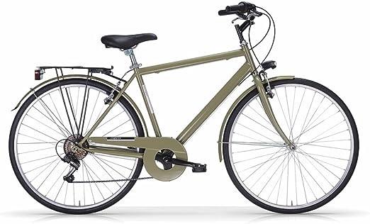 Bicicleta MBM Touring de hombre 28, estructura de acero, Verde 54 ...