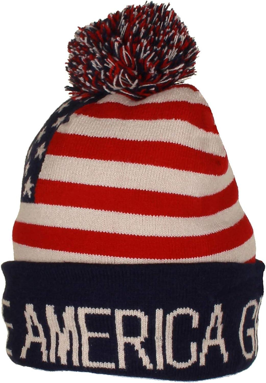 Gilbins Trump Beanie Ski Cap Hat Keep America Great Again, USA Flag Hat, Trump Beanie Hat