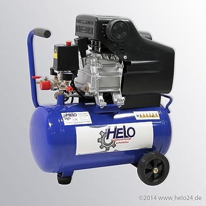 HELO portátil compresor de aire comprimido 25 litros, Motor para 100% Kupfergewicklt