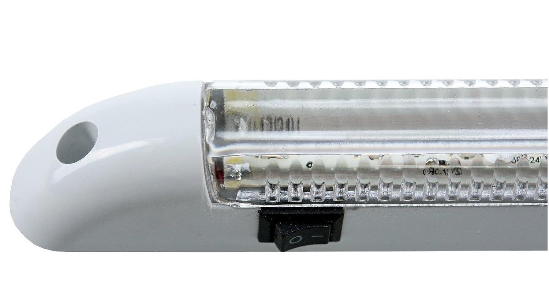 flexzon 2X BLUE LED 12V INTERIOR CARAVAN MOTORHOME TRUCK CAR BOAR LIGHT STRIP LAMP NEW
