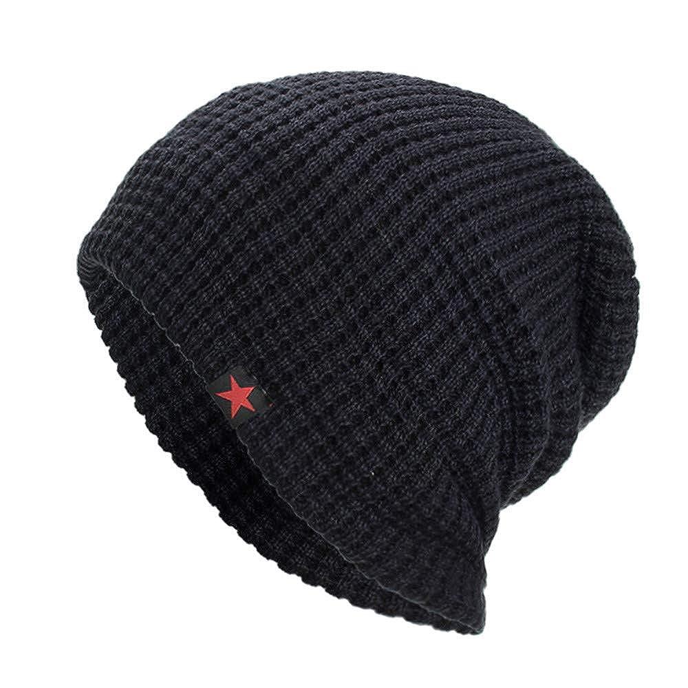 Sencillo Vida Gorra Beanie de Punto Sombreros de Invierno Gorro Sombrero Caliente de Punto Hombre Unisexo con Suave Interior de Forro Polar Talla Unica