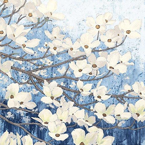 Dogwood Blossoms II Indigo by James Wiens Art Print, 20 x 20 inches